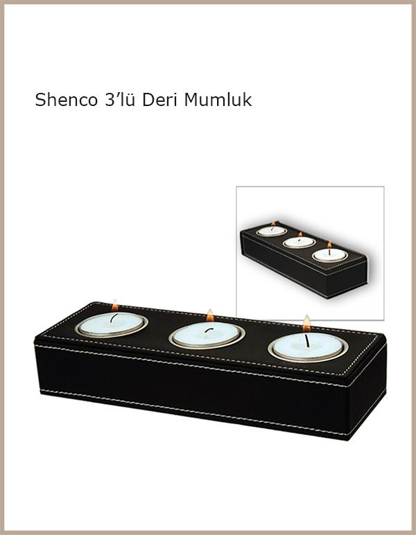 Shenco 3'lü Deri Mumluk