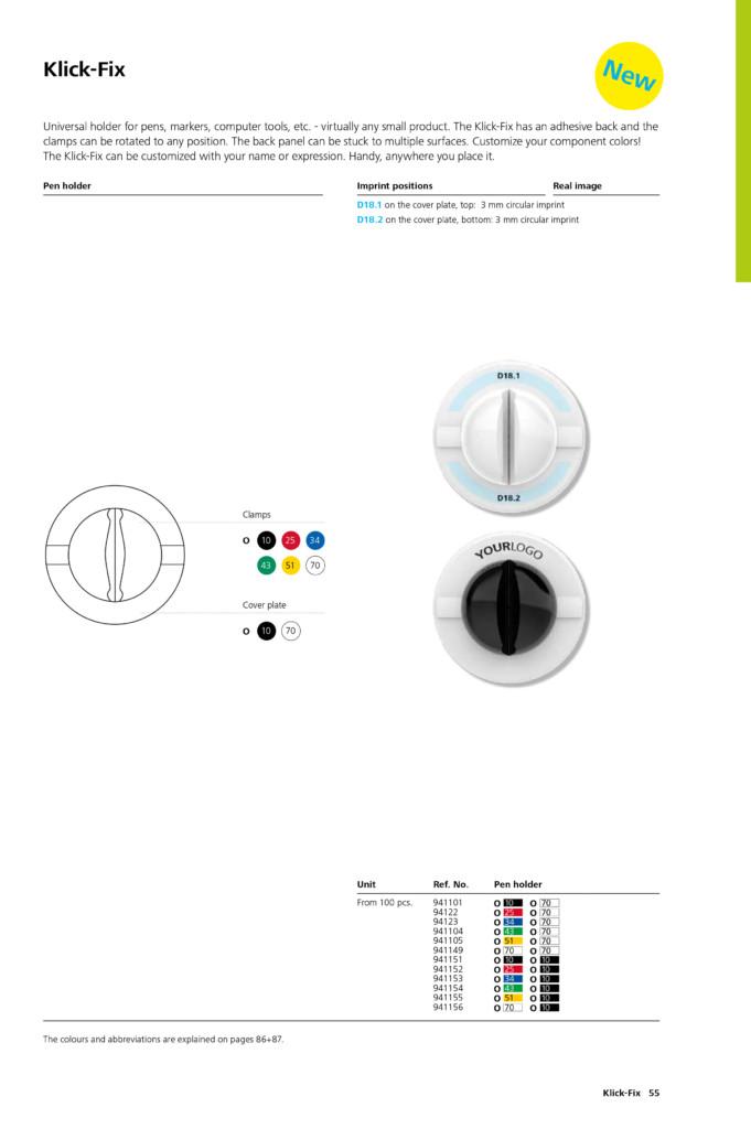 Schneider Klick Fix Pen Promo T 252 Kenmez Kalem Irmak Tanitim